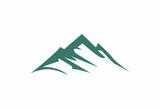 Fototapety mountains abstract illustration logo