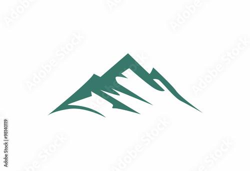mountains abstract illustration logo