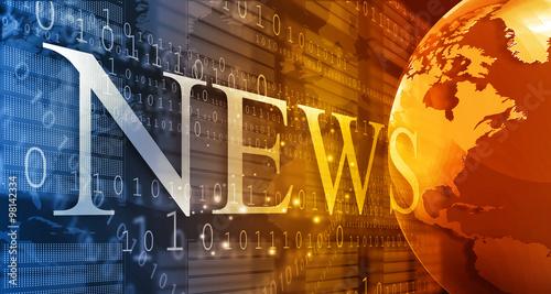 words News on digital background.