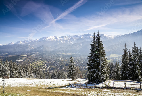 Zakopane winter panorama, Poland