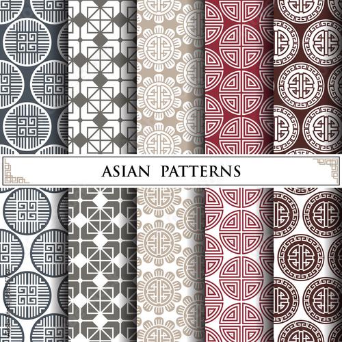Fototapeta asian vector pattern,pattern fills, web page background,surface