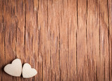 Fototapety the small wooden hearts