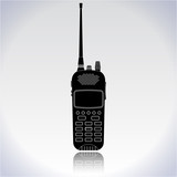 Portable radio transmitter - walkie talkie icon.