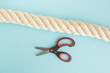 Strong rope and small scissors