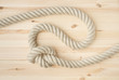 Strong marine rope with knot