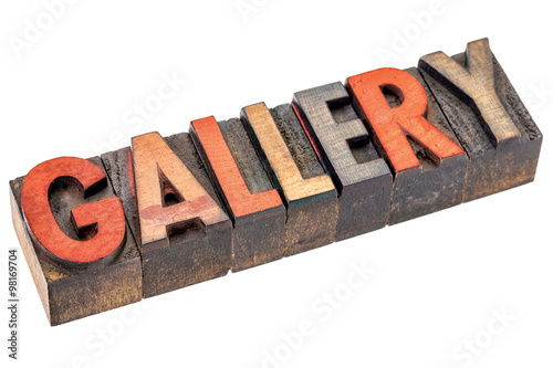 gallery banner in vintage wood type