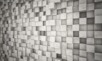 concrete geometric wall © tiero