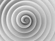 White 3d spiral with soft shadows, digital art