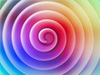 Colorful 3d spiral front view, abstract illustration