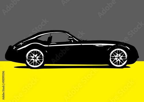 Fototapeta Pop-art sport car