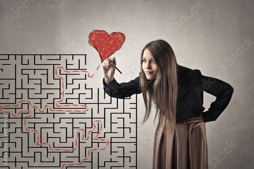 Zdjęcia na płótnie, fototapety, obrazy : The path to love