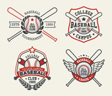 Set of Sport Baseball Badge Logo Templates, Baseball Label Templates, T-Shirt Graphics - 98221930
