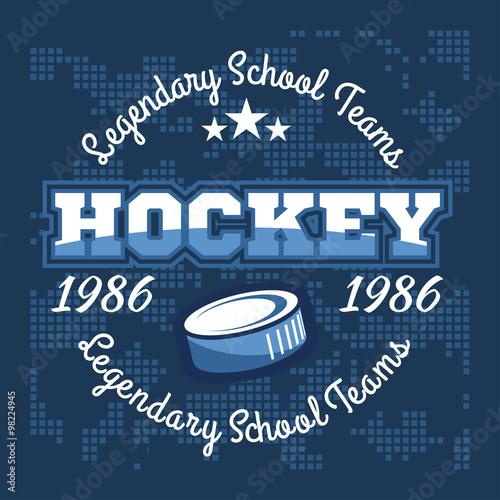 obraz PCV Hockey championship logo labels. Vector sport design