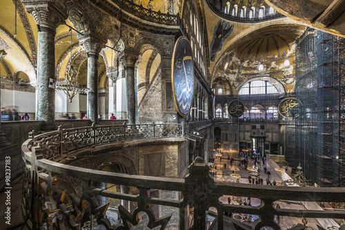 Poster The Hagia Sophia (also called Hagia Sofia or Ayasofya) interior