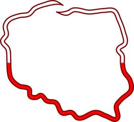 Biało Czerwony Kontur Polski 98244351 Panel Szklany Kuchenny