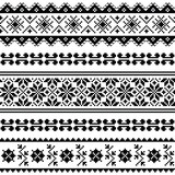 Slavic black seamless pattern on white background  - 98245175
