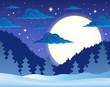 Winter night theme background 1