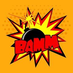 Comic Bomb Illustration