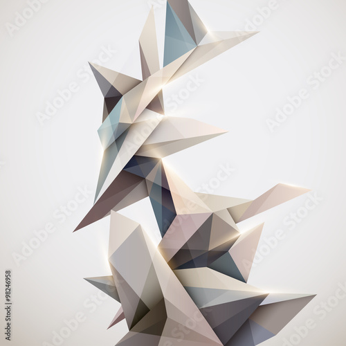 Background of 3d geometric shapes | Buy Photos | AP Images