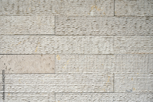 Beige artificial stone wall