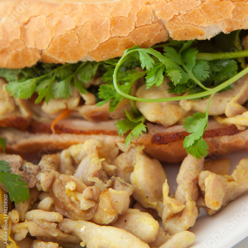 Foto: banh mi vietnamese sandwich asian chicken bacon pork fast food