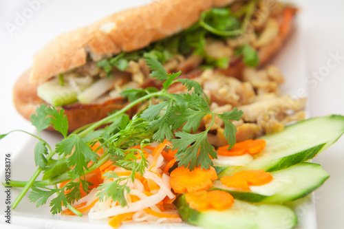 Foto: banh mi vietnamese sandwich asian chicken bacon pork fast food