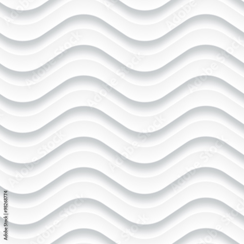 White seamless background panel with wavy texture - 98268774