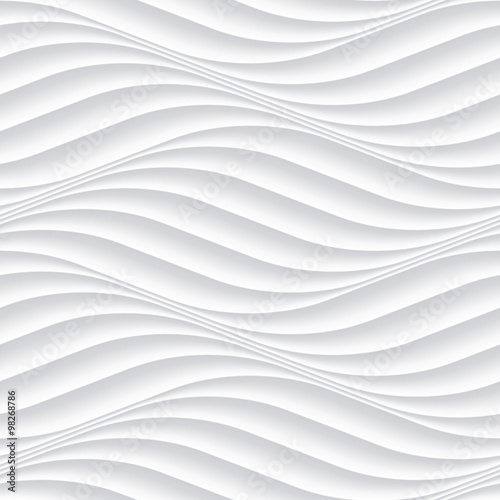 White seamless background panel with wavy texture - 98268786