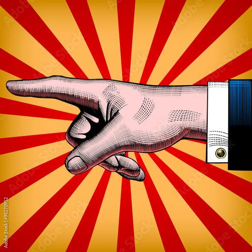 obraz lub plakat Pointing hand