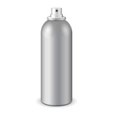 Gray Aerosol Spray Metal Bottle Can: Paint, Graffiti, Deodorant EPS10