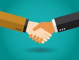 Apretón de manos de hombres de negocios