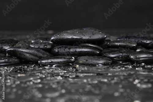 Poster Spa still life with Wet stones
