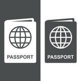Icono plano passport #1