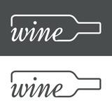 Icono plano wine en botella #3