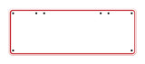 Blank Australian Registration Plate