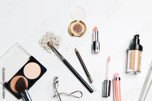Poster close up of makeup stuff