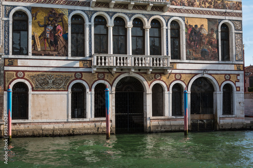 Obraz na Szkle Old Facade along Typical Water Canal in Venice, Italy