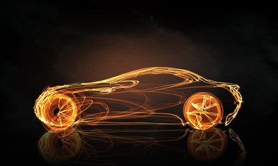 Car light symbol