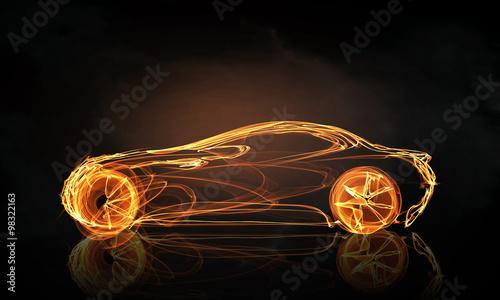 symbol-swiatla-samochodu