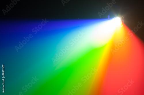 Poster rgb spectrum light of projector