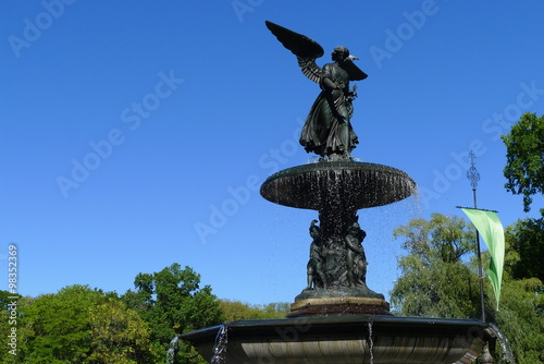 Angel on Bethesda Fountain in New York Central Park Poster