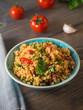 Couscous mit Tomaten und Basilikum - 98355578
