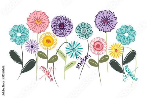 Spirograph Garden - Wall Art, Nursery or Children's Room Art