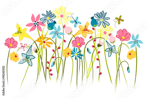 Wildflowers - Wall Art, Nursery or Children's Room Art