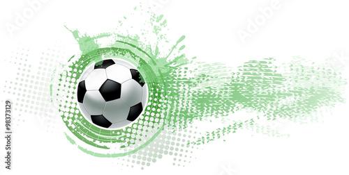 Fototapeta soccer ball banner