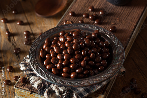 Fotobehang Koffiebonen Chocolate Covered Espresso Coffee Beans