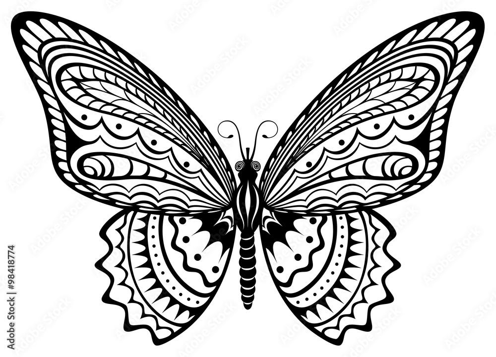 wzorzyste skrzydło projektować - powiększenie