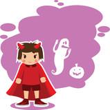 Flat Halloween imp
