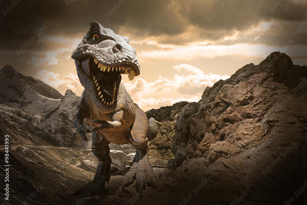tyranozaur zabawka odtworzenie - powiększenie