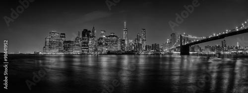 Foto op Aluminium New York New York manhattan bridge night view